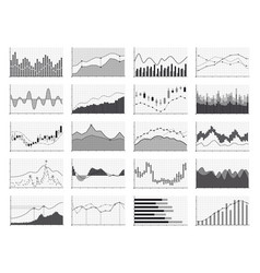 Stock analysis graphics or business data financial vector