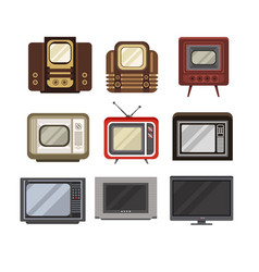 television receivers set tv evolution from vector image