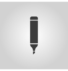 The marker icon Pen and pencil highlighter vector image