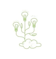 Three Fruiting With Symbolic Idea Bulbs vector