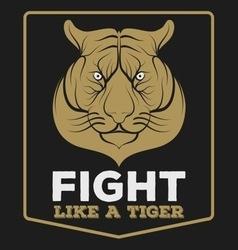 Tiger vintage vector