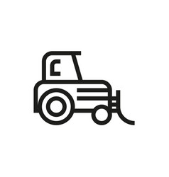 tractor icon on white background vector image