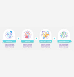 Treatment plan for adhd infographic template vector