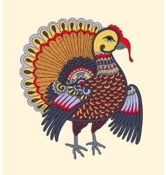 Turkey decoration for thanksgiving holiday vector