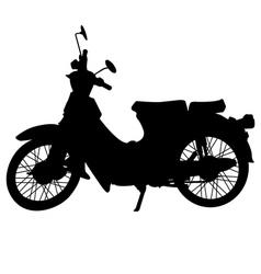 Vintage motorcycle silhouette vector