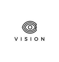 Vision eye eyes logo icon vector