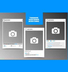 White photo frame for social network picture vector