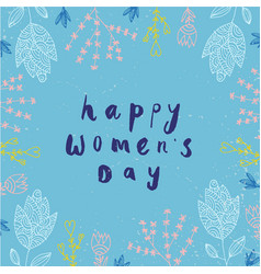 women s day card banner poster hand vector image