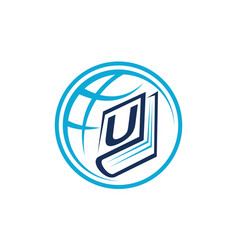 World education letter u vector