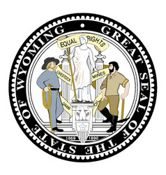Wyoming state seal vector
