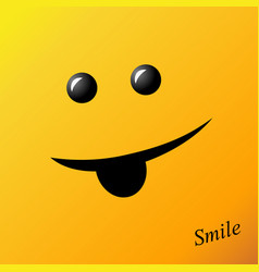 yellow smile smiley face vector image