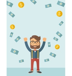 Young happy businessman vector image