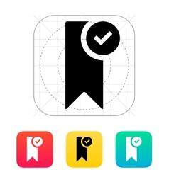 Check bookmark icon vector image
