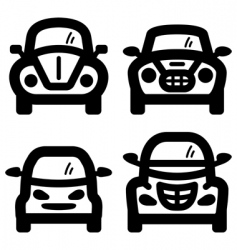 city cars vector image