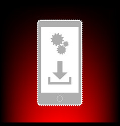 phone settings download and install apps postage vector image vector image