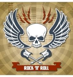 Retro rock background vector image vector image
