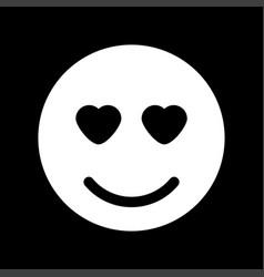 smile white color icon vector image vector image