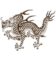 The Responsive Dragon of Chinese Myth vector image
