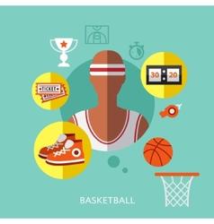 Basketball infographic vector