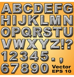 Chiseled Block Letters vector image vector image