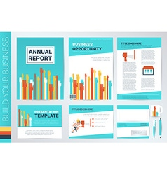 Hand raising book cover and presentation template vector image vector image