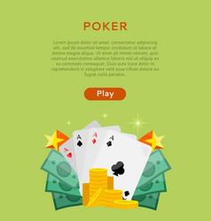 pocker online games dice casino banners set vector image