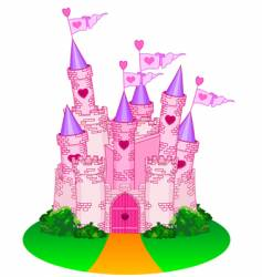princess castle vector image vector image