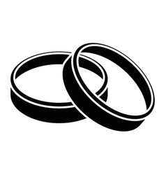 wedding rings icon vector image
