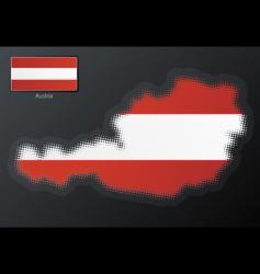 Austria modern halftone map vector image vector image