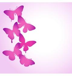 border of butterflies flying vector image