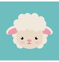 cute sheep animal farm isolated icon design vector image