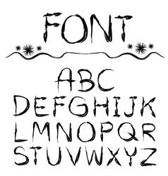 font hand drawn vector image vector image