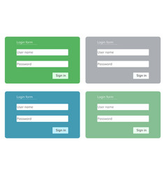 log in form for web site vector image vector image