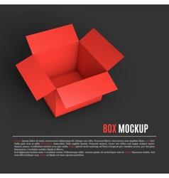 Open box mockup template vector image
