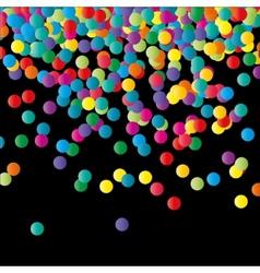 Paper Confetti Color Background vector image vector image