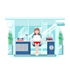 Secretary in office vector image vector image