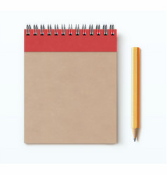 spiral brown notebook vector image