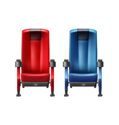 two cinema seats vector image vector image