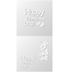 Valentines day greeting cards vector image vector image
