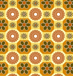 Vintage floral orange pattern vector