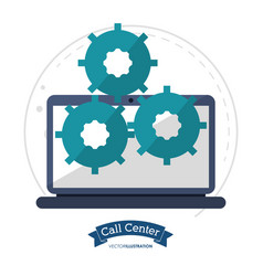 Call center technology gears cooperation vector