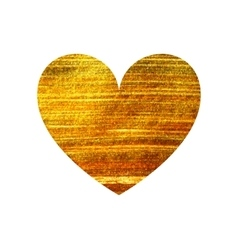 Gold heart on a white background vector image