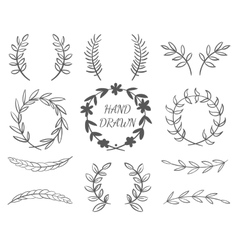 Hand Drawn Borders vector image