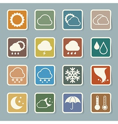Icon set of weather eps 10 vector image vector image