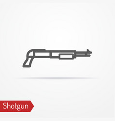 shotgun silhouette icon vector image vector image