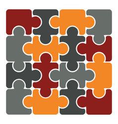 simple 16 element puzzle vector image