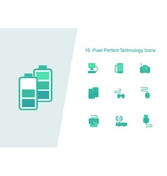 10 pixel perfect technology vector
