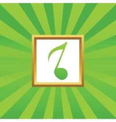 8th note picture icon vector