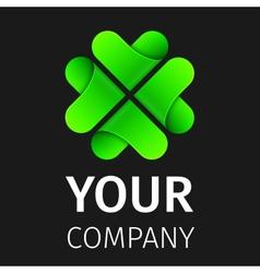 Abstract logo clover vector image