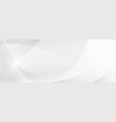 Abstract white and gray gradient curve background vector